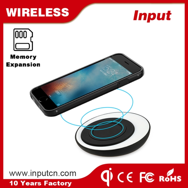 OTG Memory Expansion Wireless Charging Case for iPhone 6 plus/6s Plus