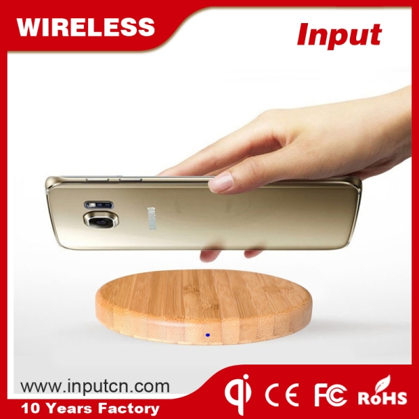 Fast Wireless Charger-Bamboo WT-500F